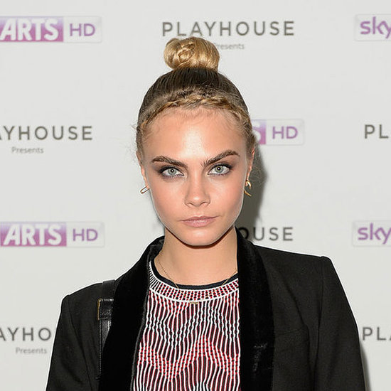 Pictures of Cara Delevingne Hair Braid and Bun