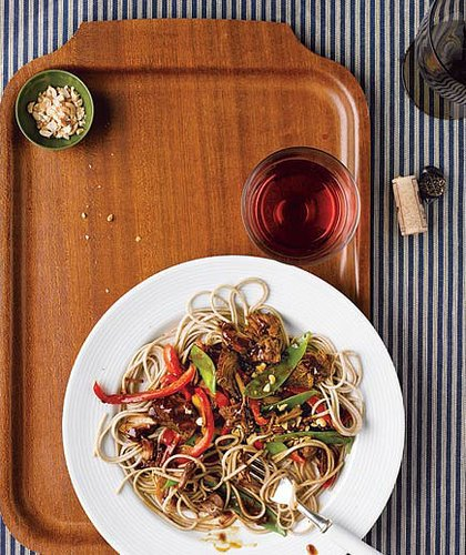 Asian Pork With Veggies and Soba Noodles