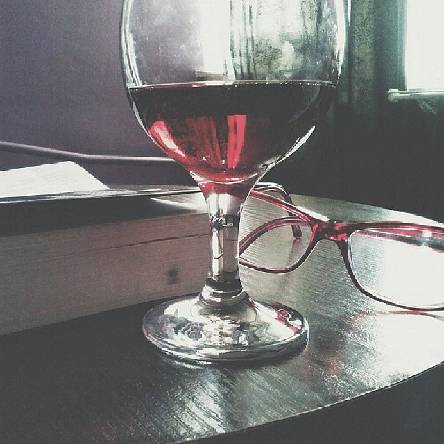 """Wine is sometimes the best way to end a night."" — Brandy R.    Source: Instagram user jovv6"