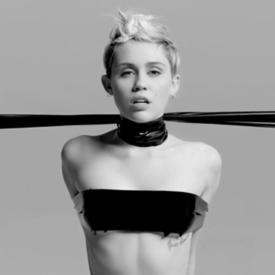Miley Cyrus Topless in S&M Bangerz Tour Video