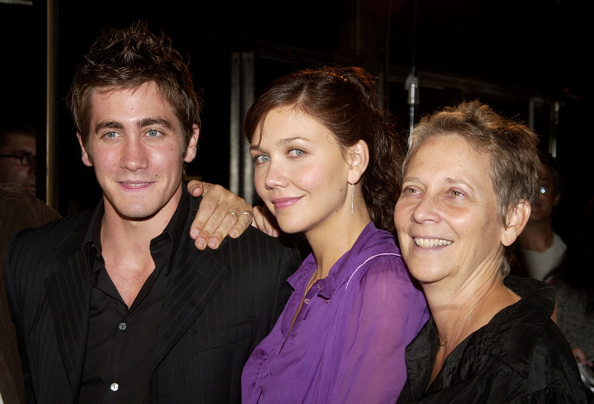 Jake and Maggie Gyllenhaal brought their mom  Naomi Foner  to the    Jake Gyllenhaal And Maggie Gyllenhaal Kiss