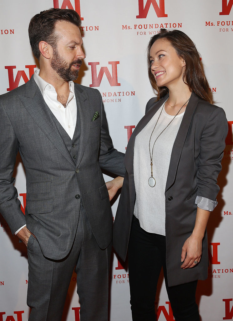 Olivia Wilde gave birth to her son, Otis, just last week, but you'd never know based on her first postbaby appearance with Jason Sudeikis at the Ms. Foundation Women of Vision Gala in NYC on Thursday.