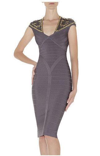 Camira Studded-Detail Bandage Dress