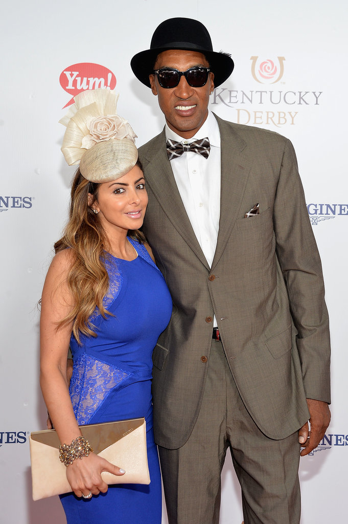 Scottie and Larsa Pippen leaned in for a cute photo.