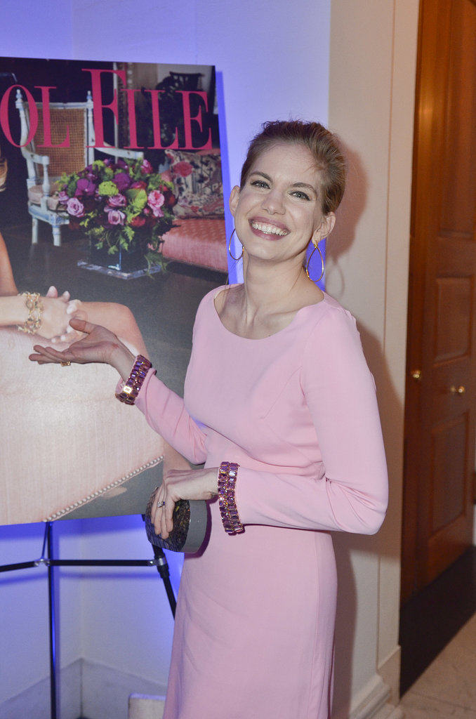 Anna Chlumsky wore an elegant pink dress to Capitol File magazine's gathering on Friday.