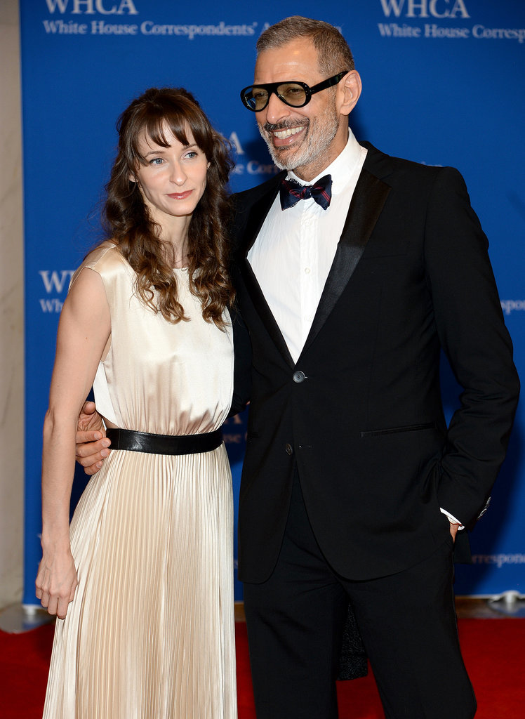 Jeff Goldblum had a good laugh on the red carpet with girlfriend Emilie Livingston.