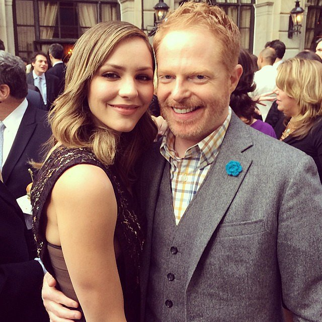 "Jesse Tyler Ferguson kicked off the weekend with ""the gorgeous"" Katharine McPhee at the People and Time party! Source: Instagram user jessetyler"