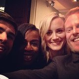 For TV fans, it felt like two universes were colliding when Orange Is the New Black stars Uzo Aduba and Taylor Schilling hung out with Modern Family's Jesse Tyler Ferguson and his husband, Justin Mikita, during the White House Correspondents' Dinner weekend in May 2014. Source: Instagram user jessetyler