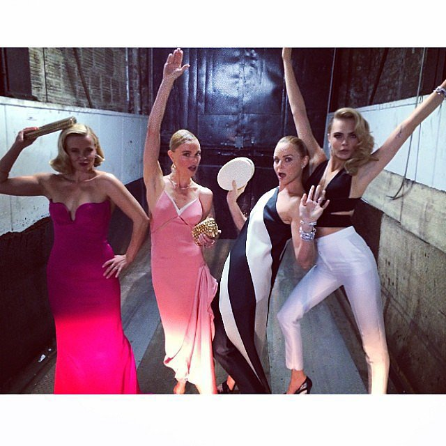 Reese Witherspoon, Kate Bosworth, Stella McCartney, and Cara Delevingne got goofy.  Source: Instagram user caradelevingne