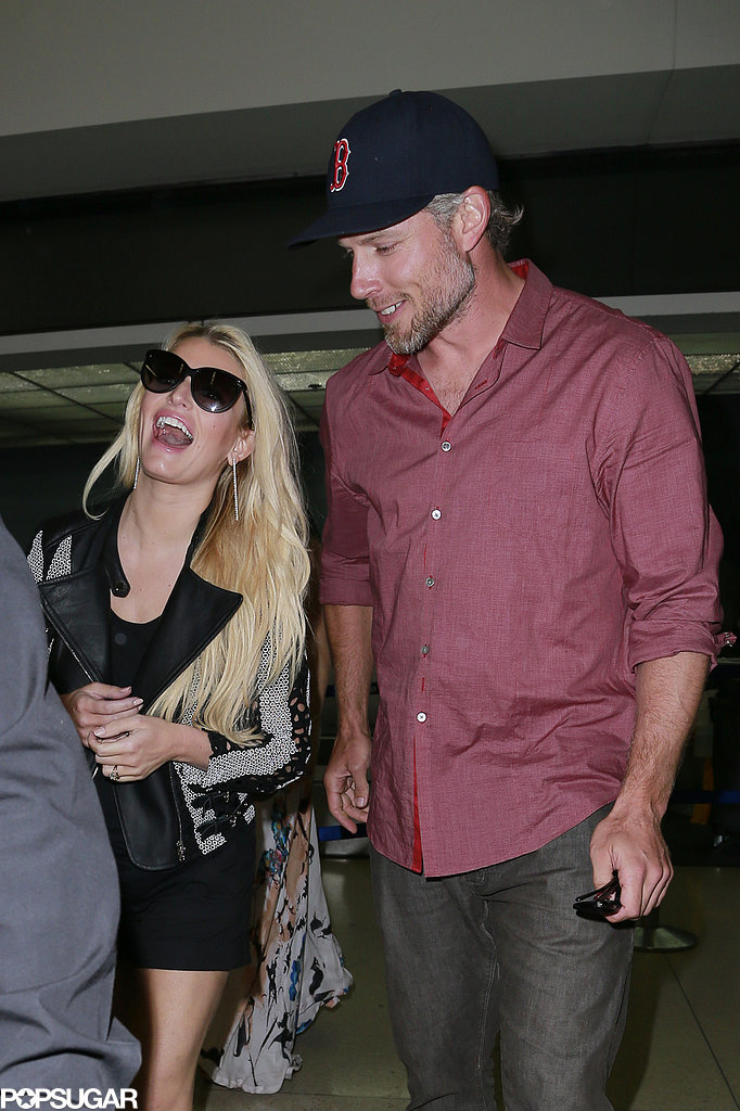 Jessica Simpson and Eric Johnson Take a Big Wedding Step