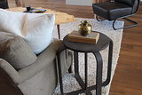 We spotted a faux snakeskin and wood box from Nate Berkus's Target collection on one of the side tables.