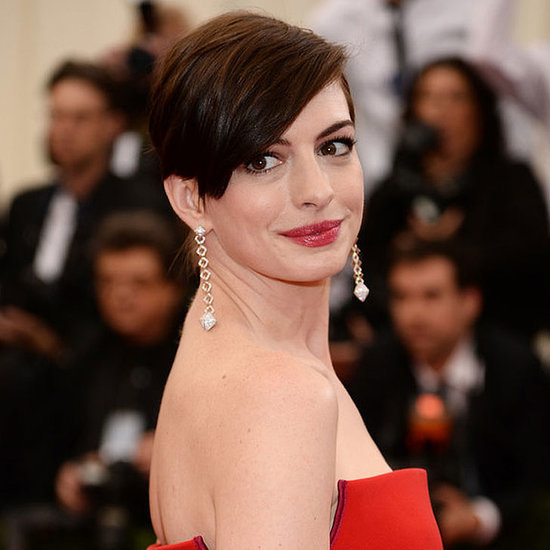 Pictures of Anne Hathaway Hair Pixie Crop 2014 Met Gala