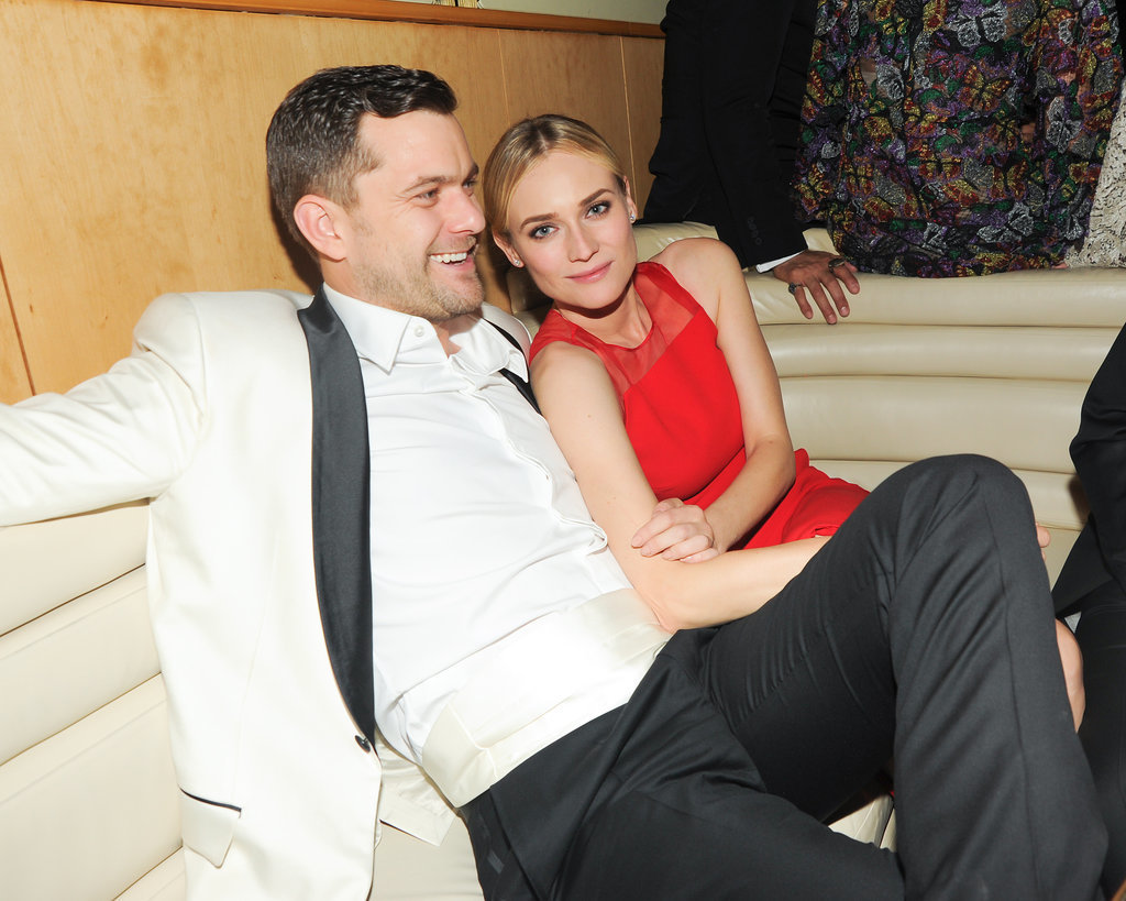 After changing her dress, Diane kicked back with her beau inside the Met Gala afterparty at The Standard in NYC.