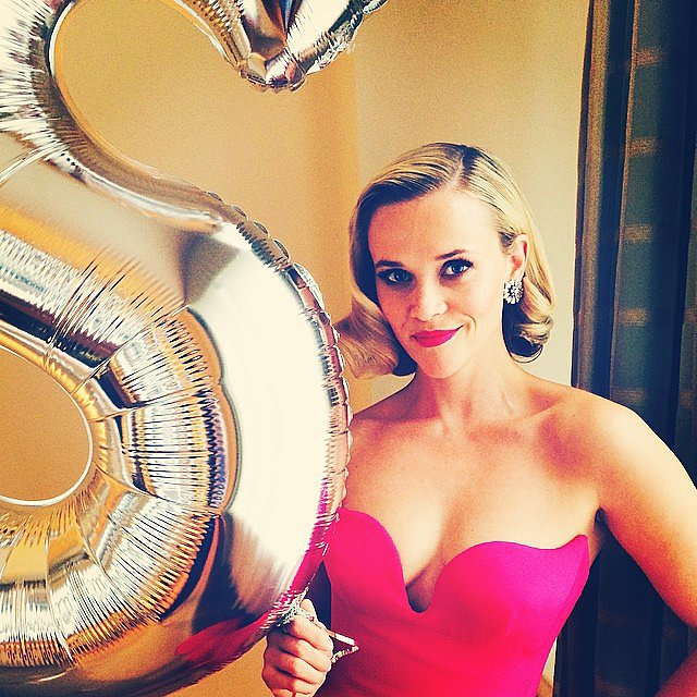 Reese Witherspoon held on to her Stella McCartney balloon. Source: Instagram user reesewitherspoon