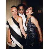 Stella McCartney, Johnny Depp, and Marion Cotillard posed. Source: Instagram user mariotestino