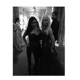 Kim struck a pose next to Donatella Versace. Source: Instagram user kimkardashian