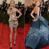 Karolina Kurkova at the 2013 and 2014 Met Galas