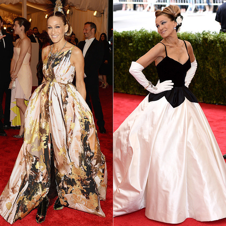 Sarah Jessica Parker at the 2013 and 2014 Met Galas