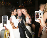 Stella McCartney and Rihanna got in on a selfie sandwich with Bill Cunningham.