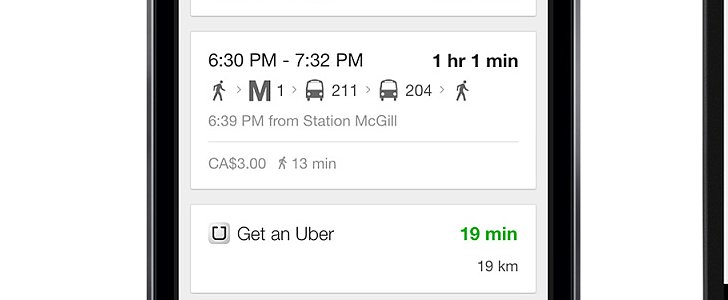 Google Maps Now Lists Nearby Uber Rides