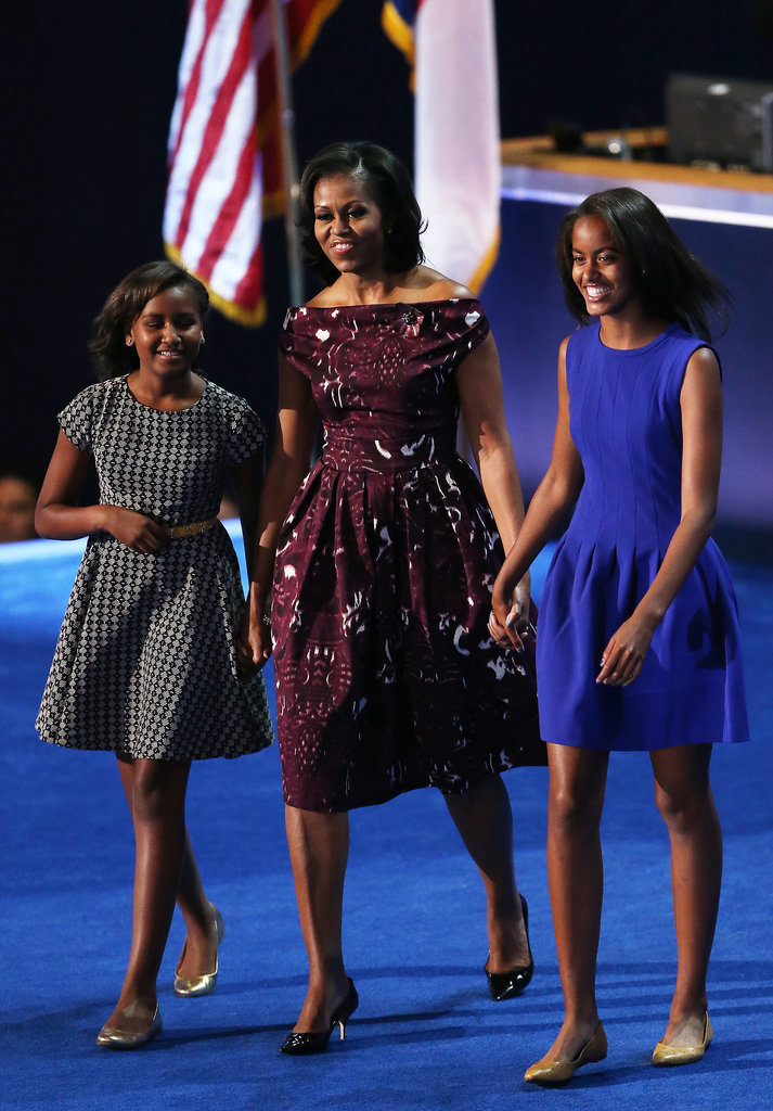 In 2012, we saw how much the girls had grown since the 2009 DNC.