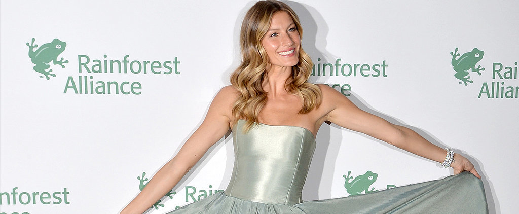 You'll Never Guess What Gisele's Dress Is Made From — Find Out on POPSUGAR Live!