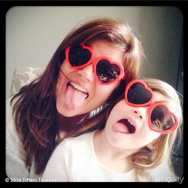 Tiffani Thiessen and Harper