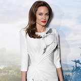 Angelina Jolie Style White Dress White Heels With Blood