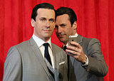 Jon Hamm took a selfie with his wax figure in NYC in May 2014.