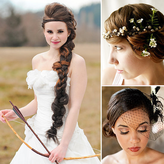 Pinterest is quickly becoming the web's biggest arbiter for all things wedding, especially when it comes to amazing hair for brides. But with the millions of pins added anew each day, it's easy to lose stuff in the stream. Here, POPSUGAR Beauty got the lowdown on 20 of Pinterest's most talked-about wedding styles, from the infamous Hunger Games bridal braid to must-have accessories. Source: Courtney Clarke and Kaysha Weiner