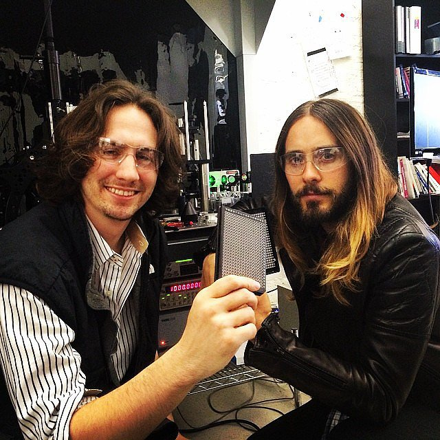 """Me + Austen Heinz of Cambrian Genomics,"" Jared captioned his snap. Source: Instagram user jaredleto"