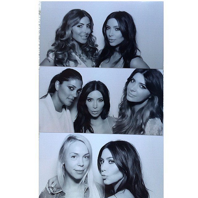 Pals Larsa Pippen, Rachel Roy, Brittny, and Simone Harouche all got in on the fun. Source: Instagram user kimkardashian