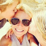 "Gwyneth Paltrow said she was ""feelin' the love"" during her beach day with Apple and Moses.  Source: Instagram user gwynethpaltrow"