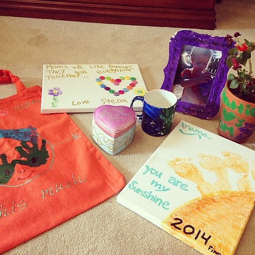 Tori Spelling received some sweet homemade gifts from her four children on Mother's Day. Source: Instagram user torianddean