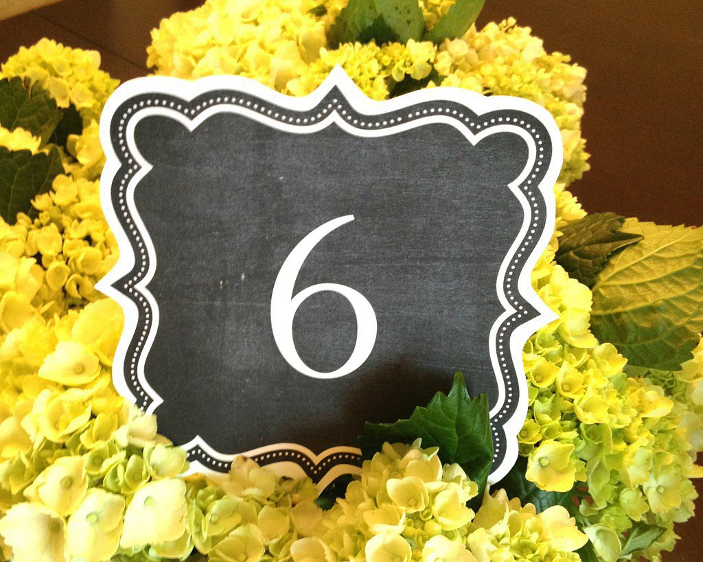33 Fun and Free Wedding-Table Printables