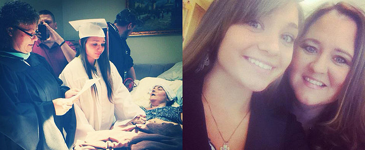 A Girl Graduates at Her Mother's Hospital Bedside to Fulfill Her Final Wish