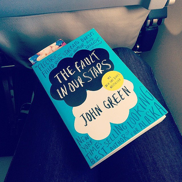 Tiffanysilver23 was reading The Fault in Our Stars on the plane.