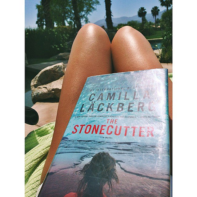 I shared my poolside reading on the POPSUGARLove Instagram. If you're a fan of Swedish thrillers, you should check out Camilla Lackberg's novels — they're fantastic.