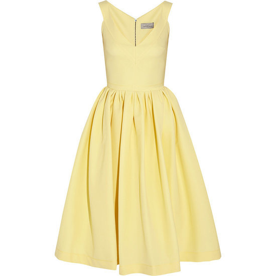 Preen Yellow Retro-Style Dress For Summer Weddings