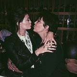 Kylie Jenner and her mom, Kris Jenner, took a kissy pic. Source: Instagram user kyliejenner