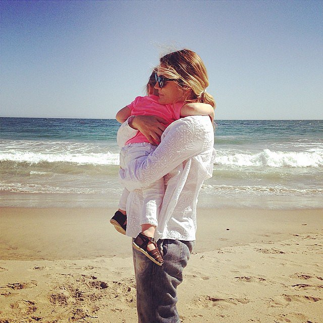 Drew Barrymore and her daughter Olive had a moment. Source: Instagram user drewbarrymore