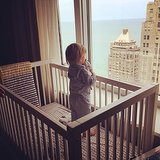 Duke Rancic took in his eagle-eye view of Chicago from his crib. Source: Twitter user GiulianaRancic
