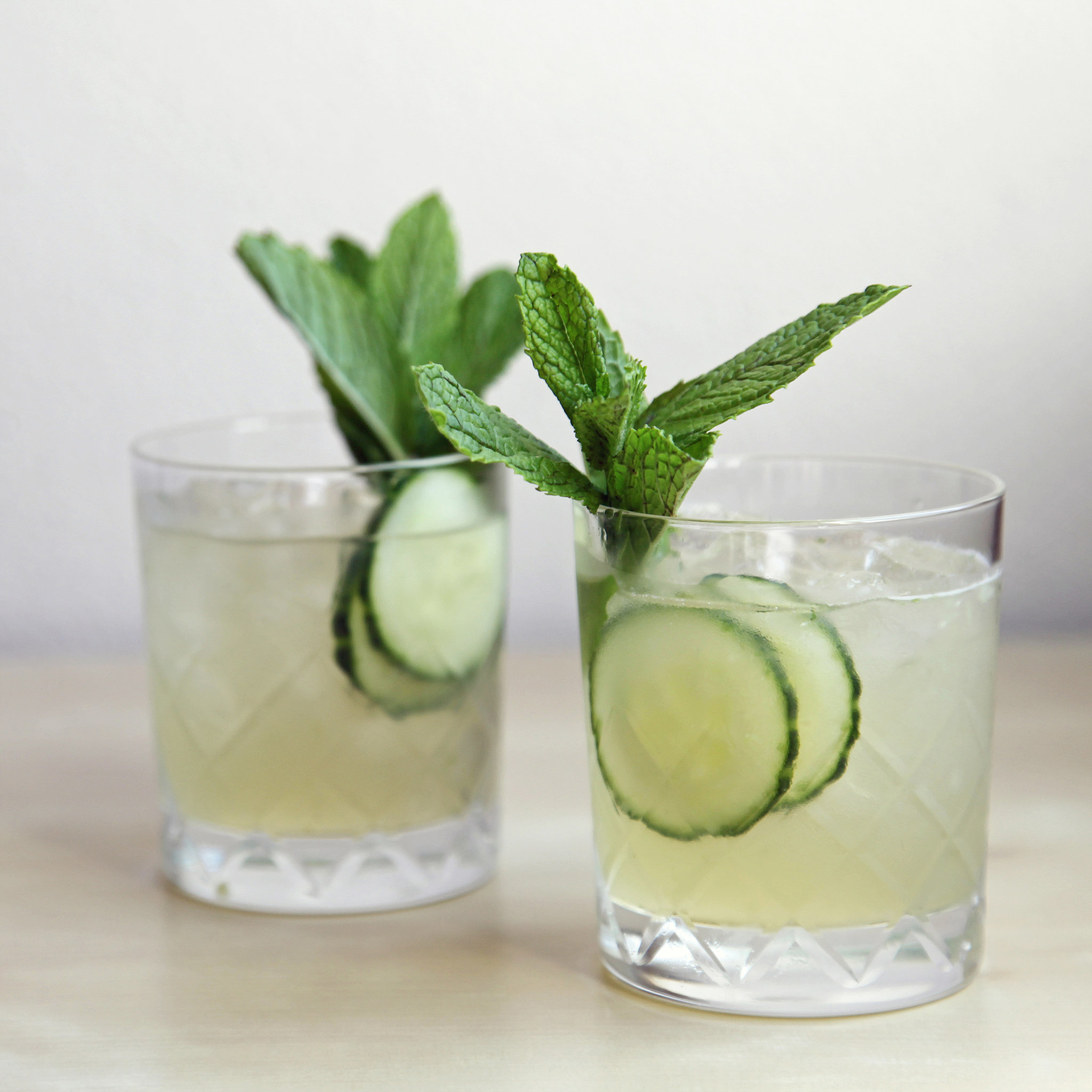 Cucumber mint gin cocktail popsugar food for Best mix with gin