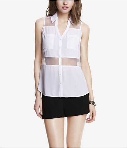 Express Organza Sleeveless Shirt
