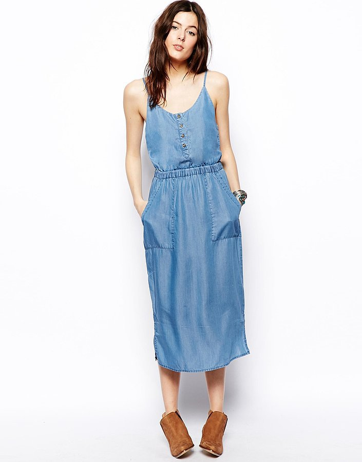 ASOS Denim Midi Dress