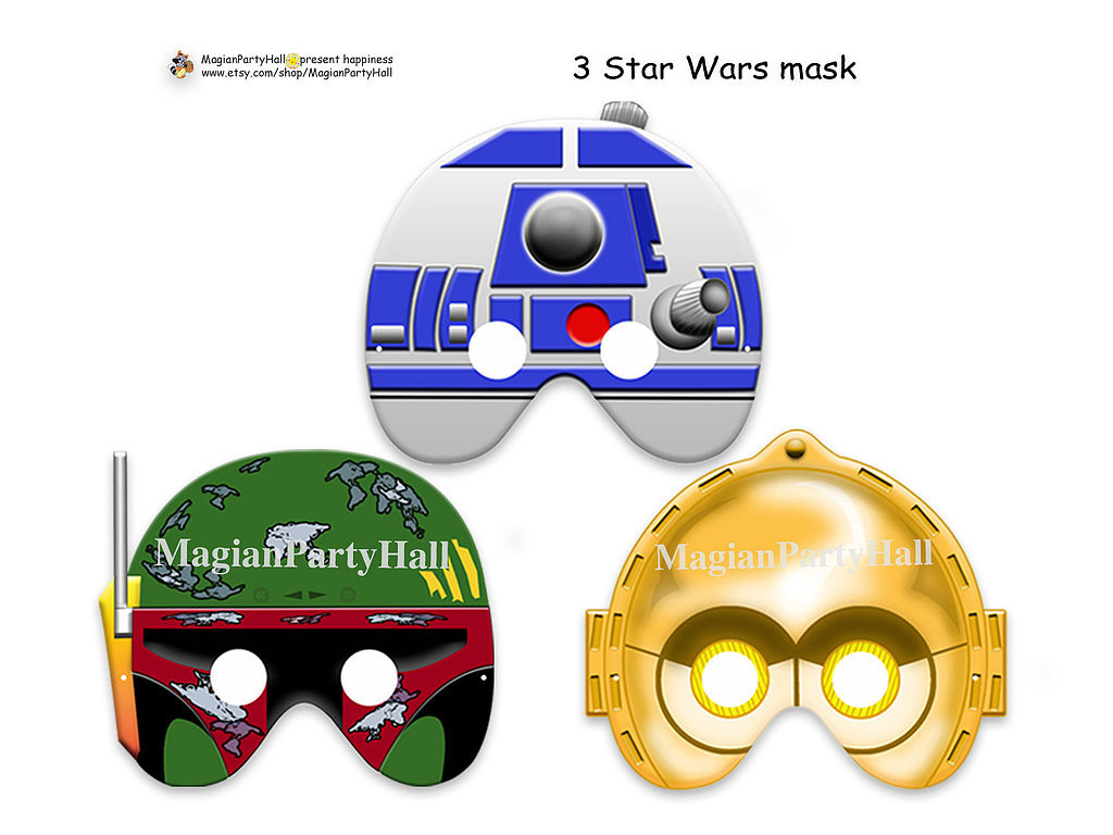 Can't have a Star Wars-themed wedding even though you really want to? Go for the next best thing with these printable props ($5) featuring R2, C-3PO, and Boba Fett.