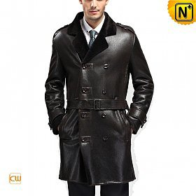 Designer Sheepskin Shearling Mens Coat CW868905