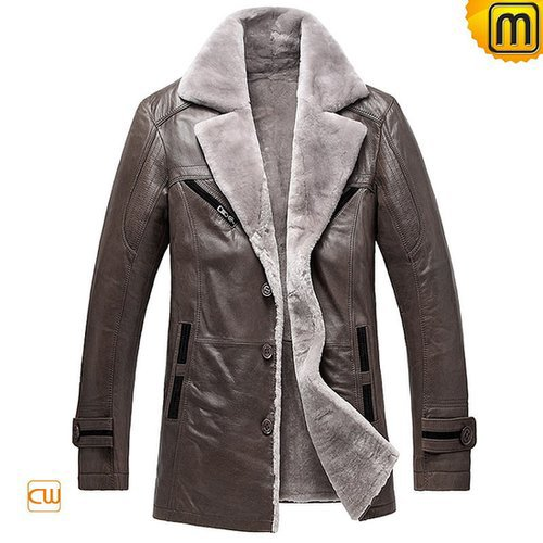 Shearling Lining Mens Winter Coat CW878249
