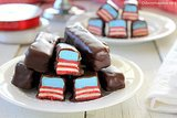 Red, White, and Blue Raspberry Candy Bars