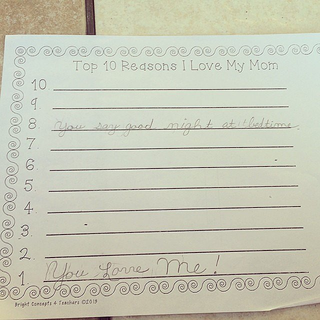 Top 10 Reasons I Love My Mom